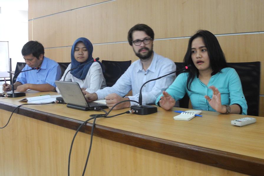 Ergebnispäsentation beim letzten Workshop