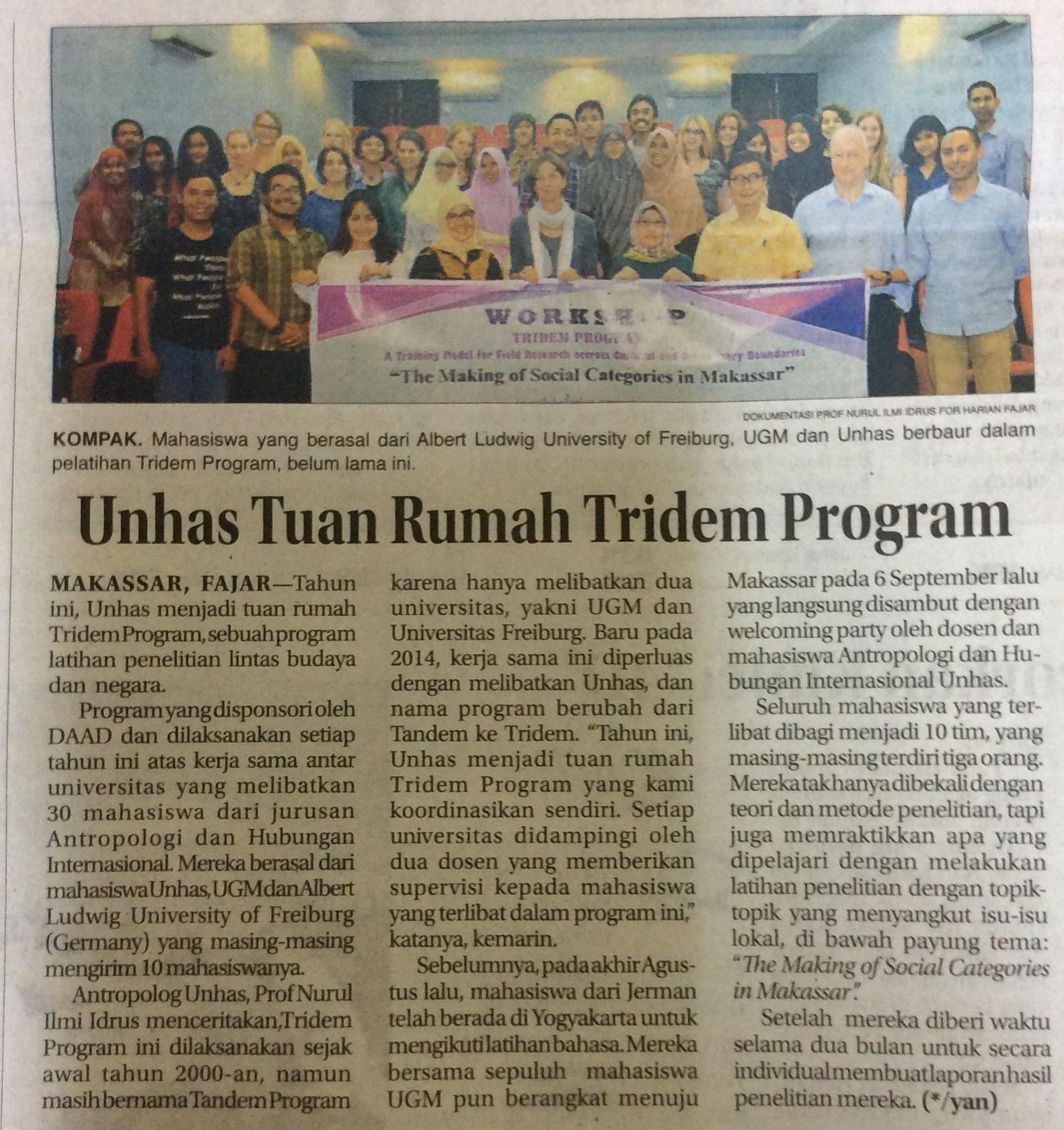 Artikel in der Zeitung Fajar am 23.09.2016.jpg